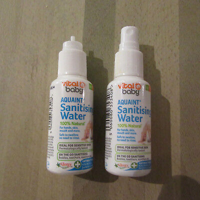 2 X Vital Baby - Aquaint - Sanitising Water - 2 X 50ML.