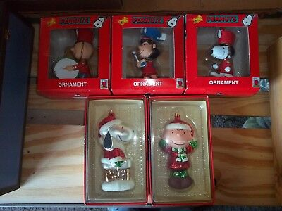 Peanuts Christmas Ornaments Kurt Adler Charlie Brown Lucy Snoopy**