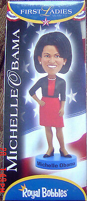 Michelle Obama Royal Bobbles Figurine Usa First Ladies Series Bobblehead
