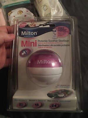 Brand New Milton Mini Portable Soother Steriliser