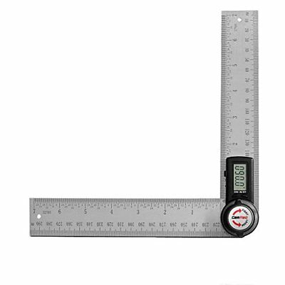 GemRed 82305 Digital Angle Finder 7 Inch Protractor 200mm Stainless Steel Ruler