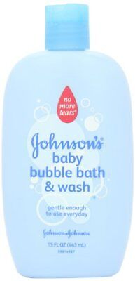 NEW Johnson's Baby Bubble Bath 15 Ounce Pack of 2 FREE SHIPPING