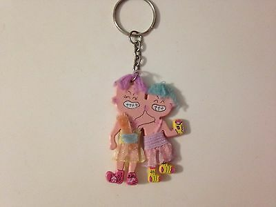 Hand Painted Funny Kids Friends Girls Key Chain Ring Accessory Souvenir Gift