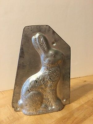 Antique Vintage Chocolate Mold Molds Rabbit Candy Old Metal Tin Bunny Hare 23