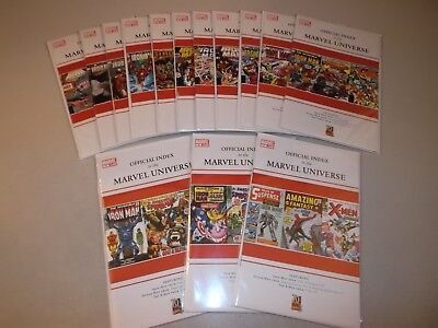 Official Index to the Marvel Universe #1-14 (Full 2009 Series, Lot of 14) , VF+