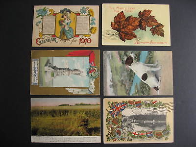 Canada 6 early used 1900s postcards various topics