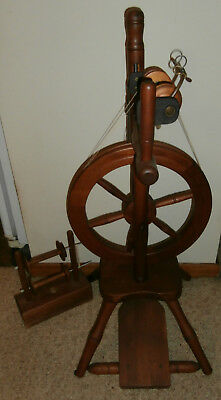 Alice Upright Light-Weight Spinning Wheel with 3 bobbins, lazy kate