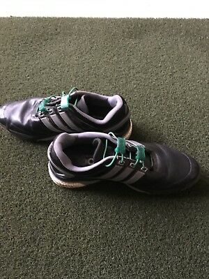 Adidas Mens Sport Boost Golf Shoes Blace Size 11 *Bonus Snap Laces Installed*