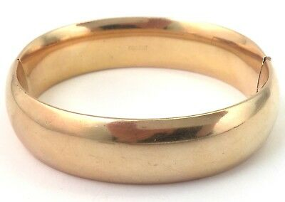 Vintage Antique Bangle Bracelet Gold Filled Plated 45 Grams Victorian Jewelry