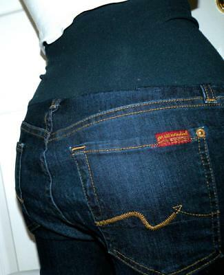 Maternity 7FAM A PEA IN THE POD 7 For All Mankind Jeans Sz 29x28.5 SKINNY Leg