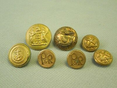 Mixed Lot of Brass Buttons - NY National Guard, New Jersey Seal, Anchors P & R
