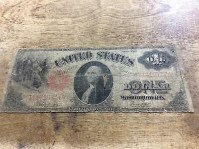 1917 $1 ***RED SEAL*** Large Note LOT#Z009