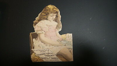 Antique Victorian Trade Card Adv STANDARD SCREW FASTENED BOOTS SHOES