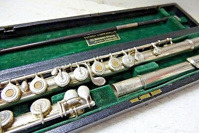 Fine Quality L.l Lebret  Paris 969 Flute In Rudalle Carte & Co Case - Very Rare