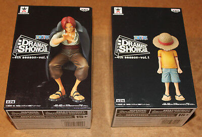 One Piece Dramatic Showcase 4th Season vol.1 Luffy and Shanks figures Banpresto