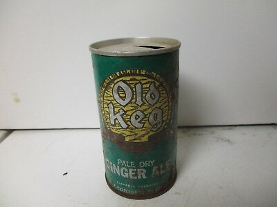 1968 Old Keg Pale Dry Ginger Ale soda can.