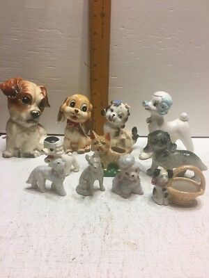Lot Of 11 Ceramic And Porcelain Dogs