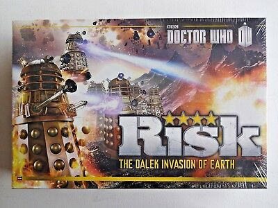 Risk Doctor Who The Dalek Invasion of Earth Board Game NEW SEALED Free Shipping