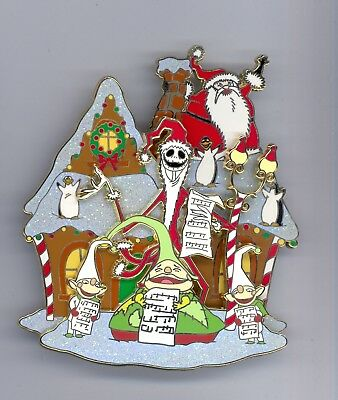 Disney Nightmare Christmastown Carol Santa Jack Sandy Claws Elves Jumbo Box Pin
