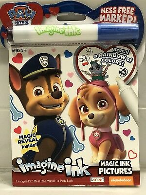 brand new imagine ink paw patrol magic ink pictures mess free marker