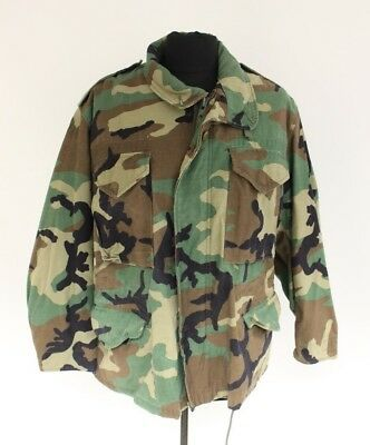 Military Issued Woodland Cold Weather Field Coat, Various Sizes Small Med Large