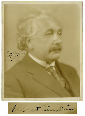 Albert Einstein Signed 8'' x 10'' Photo