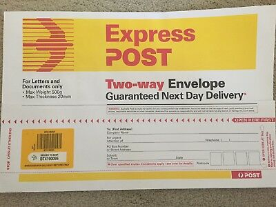 5 x Two-Way Express Post Large Envelop Next Day Delivery