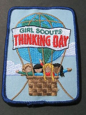 Girl Scouts America Thinking Day Embroidered Patch Brownies