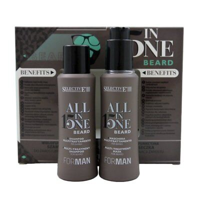 Selective Professional For Man All in One Beard 100 ml Shampoo & 100 ml Mask Set