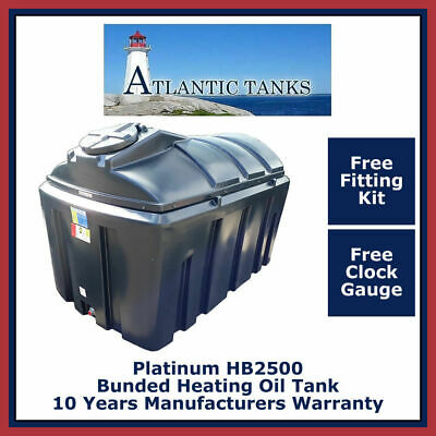 2500ltrs Horzontal Platinum Bunded Domestic Heating Oil Storage Tank