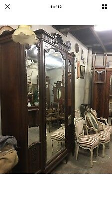 Antique French Rosewood Triple Armoire
