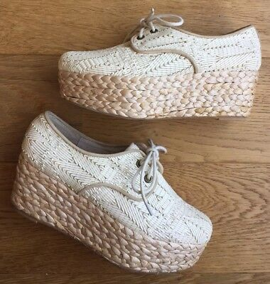New Mollini 'Arabica' Casual Lace Up Wedges / Platforms / Shoes- Size 38 ❤️