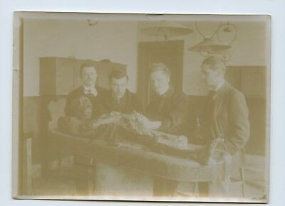 1910s Autopsy Photo / Doctors & Students Posing With Cadaver / Medical / Death