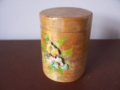 Wooden Painted Round Tub - Vintage