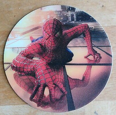 Spider-Man 2002 Movie - Rare Sony Promo Lenticular Circular Sticker