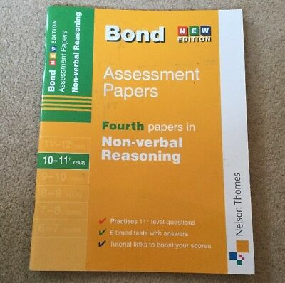 BOND 11+ Assessment Papers, 4th Papers In Non-Verbal Reasoning (10-11+ Years