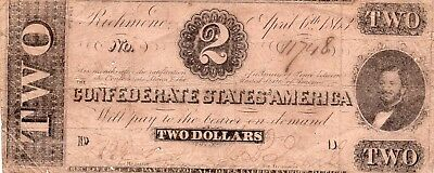 Two Dollar Confederate Note No Reserve