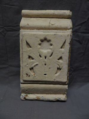 One Architectural Salvaged Plinth Block Molding Floral Shabby Vtg Chic 495-18P
