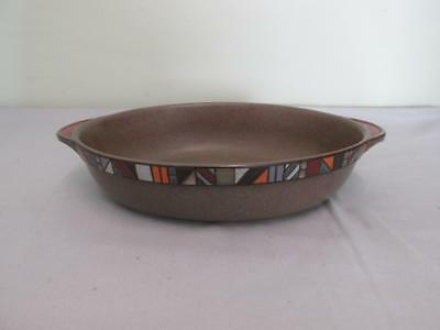 "Denby Marrakesh 2nd Quality Decorative Large Oval Serving Roasting Dish 13"" x 8"""