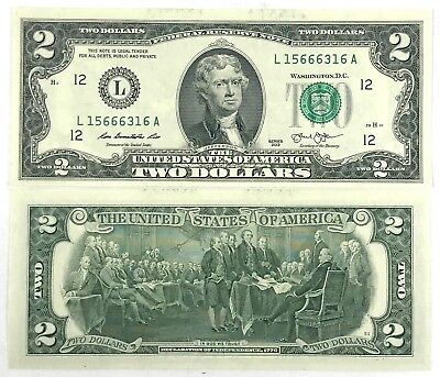 Lighty circulated $2 Two Dollar bills note Mixed Lot BEP