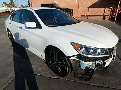 2016 Honda Accord Sport 2016 Honda Accord Sport Damaged Wrecked Repairable! Perfect Commuter! Wont Last!
