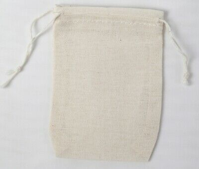 Mini Muslin Double Drawstring Bags Made in the USA