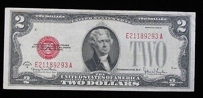 1928-G $2 Red Seal United States Note * US Paper Money #124