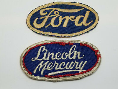 Vintage Ford Lincoln Mercury Car Automobile Employee Uniform Patches