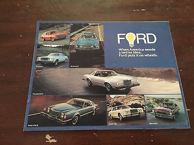 1976 Ford Car Auto Dealership Advertising Brochure