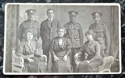 WWI era possibly a family group photo pc of unknown soldiers etc