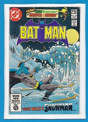 "Batman #337_July 1981_Fine+_Robin_""where Walks A Snowman?""_Bronze Age Dc_Uk!"
