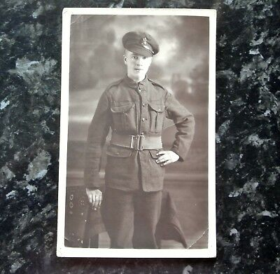 WWI era portrait photo pc of unknown soldier, Kings Royal Rifle Corps?
