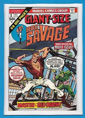 Giant-Size Doc Savage #1_1975_Very Fine+_Mind-Boggling Movie Issue_Bronze Age!