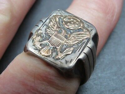 Vintage Heavyweight Army Officer's Ring